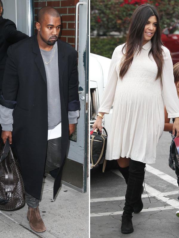 Kim Kardashian & Kanye West: Why He's 'Jealous' Of Kourtney's New Baby