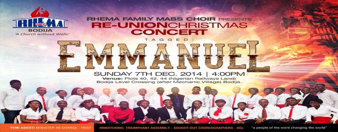 Re-Union Christmas Concert Rhema Family Mass Choir